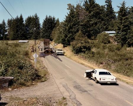 Exhausted Renegade Joel Sternfeld, Elephant, Woodland, Washingtone, June, 1979