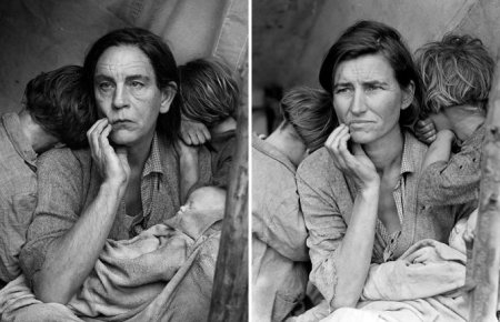 Sandro Mille, Dorothea Lange / Migrant Mother, Nipomo, California (1936), 2014