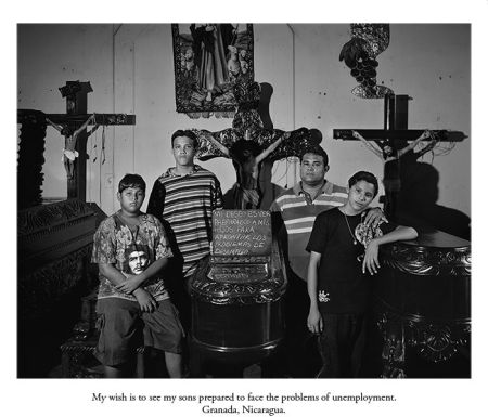 Martin Weber, My wish is to see my sons prepared to face the problems of unemployment, Granada, Nicaragua.