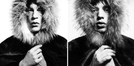 """Sandro Miller, David Bailey / Mick Jagger """"Fur Hood"""" (1964), 2014"""