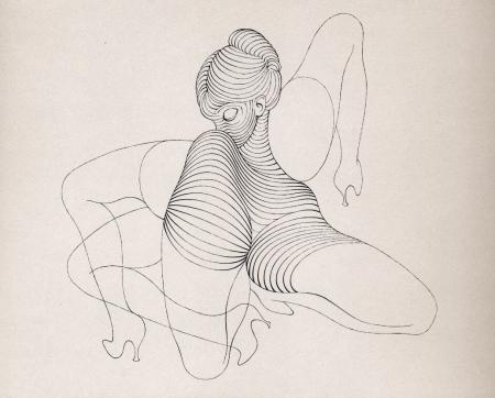 """Hans Bellmer, illustrazione da """"Anatomia dell'Immagine"""""""