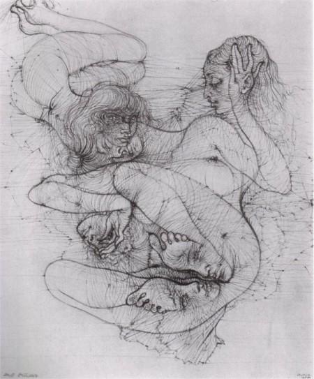 """Hans Bellmer, illustrazione da """"Anatomia dell'Immagine"""", 1955"""