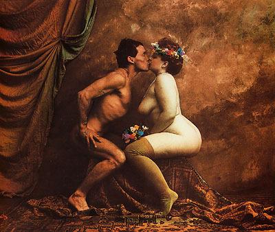 ©Jan Saudek, Il bacio della morte, 1988